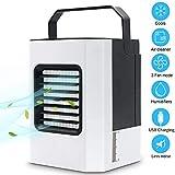 LITI Mobile Klimageräte, Mini Persönliche Klimaanlage, 4 in 1 Luftkühler, Ventilator, Luftbefeuchter, Lufterfrischer mit 3 Geschwindigkeiten Air Cooler für Schlafzimmer Wohnzimmer Büro Reise