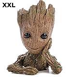 TPK XXL Baby Groot Blumentopf Figur - Übertopf Groß Aquarium Deko Figur Holz Aschenbecher Stiftehalter - Innen