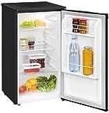 Exquisit Kühlschrank KS 85-9 RVA+ sw/Kühlen 82 Liter/Breite 45 cm/Türanschlag wechselbar/Schwarz