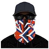WERVOT Laufmaske Halstuch Herren Mundschutz Kopftuch Fahrrad-maske Atmungsakt Staubdicht Sonnenschutz Sommer Face Shield (B)