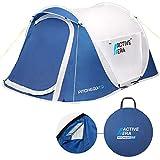 Active Era™ Wurfzelt für 2 Personen – Doppelschichtiges Pop-Up-Zelt – Ultraleicht und 100% wasserdicht mit Belüftungsfunktion und Windschutz – Perfekt für Festivals oder Camping