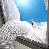 Wopohy Fensterabdichtung für Mobile Klimagerät Ablufttrockner, AirLock Hot Air Stop Zum Anbringen an Fenster, Dachfenster, Flügelfenster