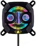 Corsair Hydro X Series XC7 RGB CPU-Wasserkühler (für Intel 115X/AMD AM4 Sockel, Kompromisslose CPU-Kühlung, Anpassbar Integrierte RGB-Beleucht, Einfache Montage) Schwarz