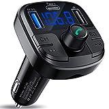 Clydek Bluetooth 5.0 Auto-FM-Transmitter, Autoladegerät mit QC3.0 und Schnellladung Typ C, Autoradio Audio Adapter MP3-Player Unterstützung USB-Laufwerk, TF-Karte, Freisprechen und Sprachnavigation