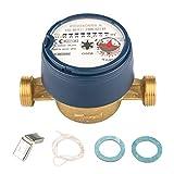 Wasserzähler QN 1,5 Kaltwasser, BL 110 mm 1/2 Zoll Durchfluss - Anschluss 3/4 Zoll Beste Messgenauigkeit Eichung 2020