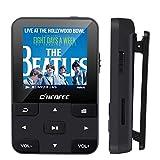 CCHKFEI 32 GB Bluetooth 5.0 MP3 Player mit Clip, Bluetooth MP3 mit Touchscreen mit Schrittzähler/FM-Radio/Sprachrekorder/Kalender/E-Book, Mini-MP3 für Sport/Laufen, unterstützt bis zu 128 GB Speicher