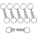Abnehmbarer Schlüsselring, 6 Stück Schlüsselanhänger mit Doppel, Schlüsselring Kupplung, Abnehmbarer Schlüsselbund, für Frauen Männer Kinder hängen Hausschlüssel Mini Karte Gürtel Schlüsselring