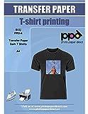 PPD Inkjet T-Shirt Transferpapier Transferfolie Bügelfolie für dunkle Textilien und Tintenstrahldrucker DIN A4 x 10 Blatt PPD-4-10