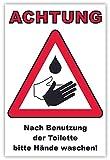 SCHILDER HIMMEL anpassbares ACHTUNG Hände waschen! Schild 30x21cm Kunststoff mit Klebestreifen, Nr 112 eigener Text/Bild verschiedene Größen/Materialien