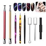 8-teiliges Zubehör-Set für magnetischen Nagellack, Magnet-Stift, Maniküre- und Nail-Art-Werkzeug, für magische 3D-Katzenaugen, Politur, UV-Gel