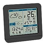 TFA Dostmann SKY Funk-Wetterstation, 35.1152.01,Wetterstation Funk mit Außensensor, Wettervorhersage, Funkuhr, innen und außen