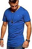 JACK & JONES Herren T-Shirt Kurzarmshirt Oversize Longshirt Basic V-Neck (Medium, Surf The Web)