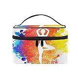 CPYang Reise-Make-up-Tasche für Yoga, Sport, tragbare Kosmetiktasche, Organizer, Kulturbeutel, Make-up, Train Case für Frauen und Mädchen