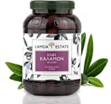 Oliven Kalamata 1 KG natur mit Stein, eingelegt in Salzlake   griechische schwarze Oliven ungeschwärzt
