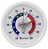 Lantelme Kühlschrankthermometer Gefrieschrankthermometer rund mehrfarbig selbstklebend analog Thermometer auswahl (Weiß)
