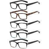 Suertree Lesebrille 5 Pack Brillen Scharnier Lesebrillen Sehhilfe Augenoptik Brille Lesehilfe für Damen Herren 3.5x