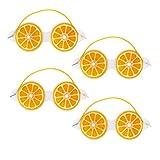 SUPVOX 4Pcs Gel Augenmaske Niedlich Zitronenform Kühlende Schlafmaske Heiß Kalt Augenbinde Augenschutz für Geschwollene Augen Trockene Augen Kopfschmerzen