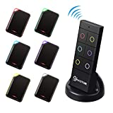 EIVOTOR Schlüsselfinder, Funk Key Finder Wireless Tracker Sachenfinder Schlüssel sofort Finden 6 Empfänger & 1 Sender mit LED Taschenlampe