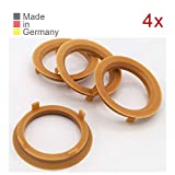 KONIKON 4X Zentrierringe 70,1 x 57,1 mm Hellbraun Felgen Ringe Radnaben Zentrierring Adapterring Ring Felgenring Distanzring Made in Germany