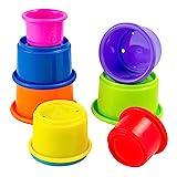 Lamaze Baby Spielzeug 'Stapelbecher', Hochwertiges Kleinkindspielzeug, Lernspielzeug, Motorikspielzeug, Stärkung der Eltern-Kind-Beziehung, Geschenke zur Geburt, Baby Spielzeug, ab 6 Monate
