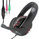 iChoose® PC Gaming Headset mit Mikrofon (3,5 m Klinkenstecker) für Computer mit Surroundsound