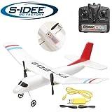 s-idee® 21001 Flugzeug FX802 Flieger rc ferngesteuert mit 2.4 Ghz Technik mit Lipo Akku