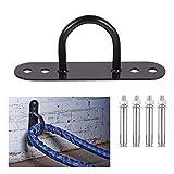 Wand/Deckenmontage-Ankerhalterung, Haken, Kletterseil, Schaukel, Sandsack, Sportausrüstung, Befestigung für Aufhängegurte, geeignet für 12 mm Bohrer