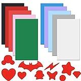 EMAGEREN 10 Stück Selbstklebende Reparaturpatches Daunenjacke Reparatur Patches leichtem Polyester-Reparaturaufkleber Wasserdicht Klebeflicken für Textilien mit DIY-Modell-Guide-Papier (19.8 x9.8cm)