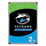 SeagateSkyHawk 2 TB HDD interne Festplatte für Videoaufnahme mit bis zu 64 Kameras (8, 9 cm (3, 5 Zoll), 64 MB Cache, SATA 6 Gb/s, silber) Modellnr.: ST2000VXZ08, FFP