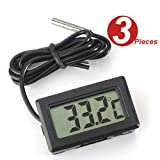 WINGONEER 3Pcs LCD Digital Thermometer temperaturfühler Sensor Tester für Kühlschrank Freezers Aquarium