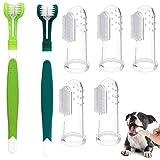 DERU Zahnbürsten für Hunde, Pet zahnbürste, Pet Fingerzahnbürste, Haustier Zahnreinigung Silikon Hund Zahnreiniger Naturkautschuk Finger Zahnbürsten, einfache Mundpflege