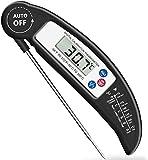 AMIR Digital Fleischthermometer, Instant Read Grillthermometer, Bratenthermometer, Kochthermometer, Küchenthermometer für Küche, Kochen im Freien, Grillen und Grillen (Schwarz)