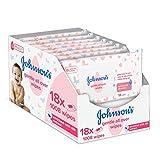 Johnson's Baby Gentle All Over Wipes Reinigungstücher, 18 x 561008 Stück