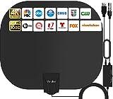 [2020 Upgrade] TV-Antenne mit stärkerem Empfang,Indoor-TV-Antenne 240KM Reichweite Smart Verstärke Signalverstärker,Geeignet für 1080P 4K Kostenlose TV-Kanäle, für DVB-T/DVB-T2-TV-Antenne