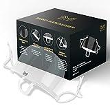 MELBI - Premium Mund Nasenvisier, Mit Anti Fog Beschichtung. Schutzvisier, Gesichtsschutz Visier, Face Shield transparent, durchsichtig aus Kunststoff wiederverwendbar (10 Stück, Weiß)