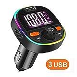 FM Transmitter Auto Bluetooth KFZ Radio Adapter Freisprecheinrichtung Car Kit mit PD3.0