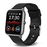 Smartwatch, 1.4 Zoll Touch Farbdisplay Smart Watch mit Pulsmesser Schlafmonitor, Fitness Tracker mit Schrittzähler für Damen Herren, Smart Watch IP67 Wasserdicht Sportuhr fitnessuhr mit Stoppuhr
