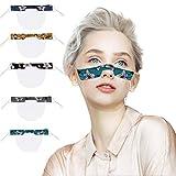 5 Stück Transparente Lippen Mundschutz mit klarem Fenster, Waschbar PVC Staub mundschutz Wiederverwendbare Plastik für Erwachsene Laufen, Radfahren