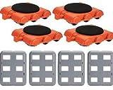 UPP Möbel-Gleitsystem Gooloo 8 TLG. Zusatz-Set mit Trolleys inkl. Teppichgleiter | Professionelles Möbelgleiter System zum sicheren Transportieren von Couch, Schrank, Waschmaschine etc.