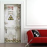 StickerProfis Türtapete selbstklebend TürPoster - GEFAHRENZONE - Fototapete Türfolie Poster Tapete