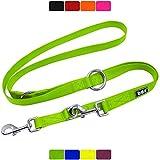 DDOXX Hundeleine Nylon, 3fach verstellbar   viele Farben & Größen   für kleine & große Hunde   Doppel-Leine Hund Katze Welpe   Schlepp-Leine groß   Führ-Leine klein   Lauf-Leine   XS, Grün, 2m