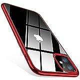 TORRAS Crystal Clear Kompatibel mit iPhone 11 Hülle, Ultra Dünn [Vergilbungsfrei] Durchsichtig Handyhülle iPhone 11 Hülle Silikon Slim Stoßfest Schutzhülle iPhone 11 Case-Rot