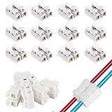 KINDPMA 100 Stück Verbindungsklemmen Schnelle Kabel zum Verbinden Schnelldrahtverbinder Beleuchtung, Maschinen und Kabelverbinder