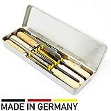 Schlüsselfeilen 6-teilig mit Holzgriff in Blechdose Feilenset Metall