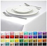 Rollmayer Tischdecke Tischtuch Tischläufer Tischwäsche Gastronomie Kollektion Vivid (Weiß 1, 120x160cm) Uni einfarbig pflegeleicht waschbar 40 Farben