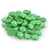 Glänzender, reflektierender Feuerglas-Kies, Feuersteine oder Perlen für Feuerstellen, Aquarien, Sukkulenten oder als Gartendekoration, 17-19 mm, 335 g. China Green
