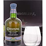 Connemara DISTILLERS EDITION Peated Single Malt Irish Whiskey mit 2 Gläsern 43,00% 0,70 Liter