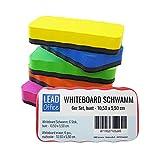 Whiteboard Schwamm, 6 Stück, bunt, magnetisch, für Whiteboard, Memoboard, Magnettafel, Flipchart, 10,50 x 5,50 cm