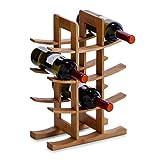 Zeller 13580 Weinregal Bambus, für 12 Weinflaschen, 29 x 16 x 42 cm