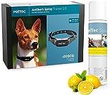 PetTec Trainingshilfe für Hunde mit sanftem Sprühsignal || Halsband aus Silikon || Stoppt Hundebellen || Sicher & Schmerzfrei